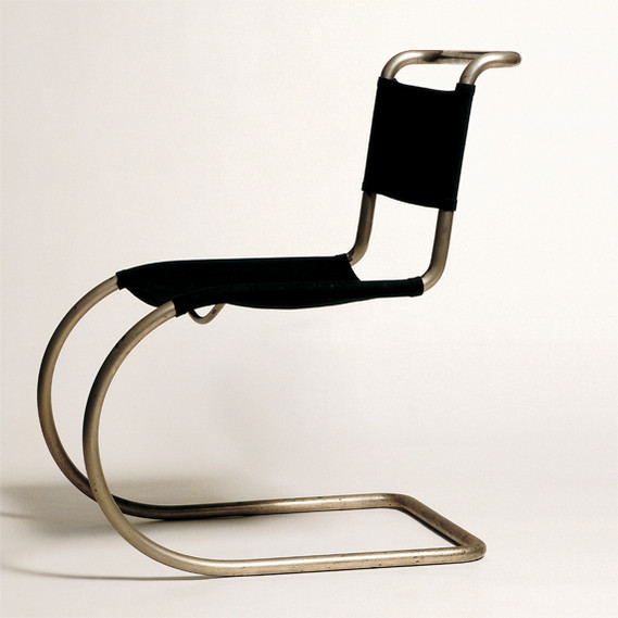 MR 10, cantilevered bent pipe chair by Ludwig Mies Van der Rohe