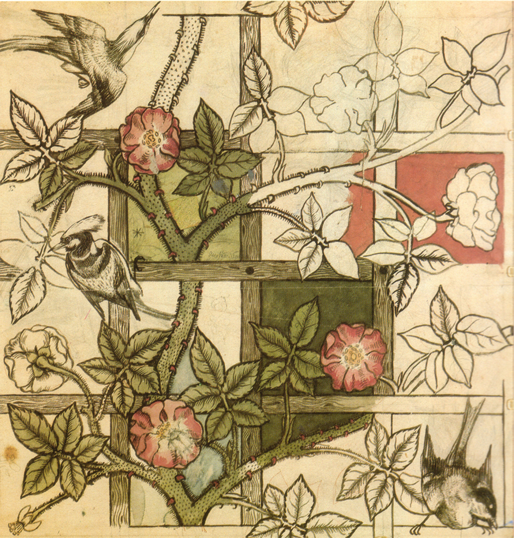 William Morris's Trellis wallpaper, 1862