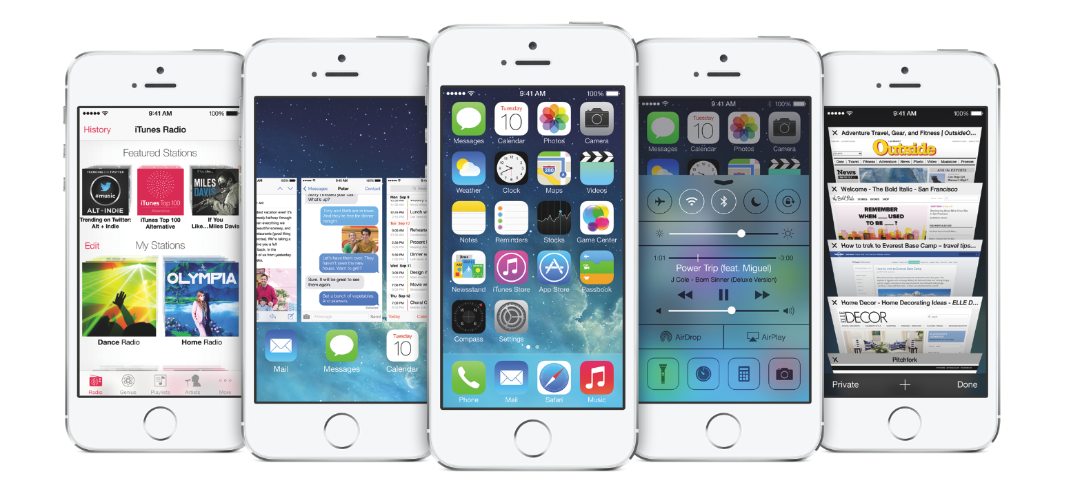 Apple's iOS7 in the iPhone