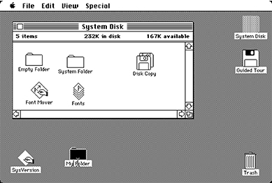Apple's 1984 Macintosh interface
