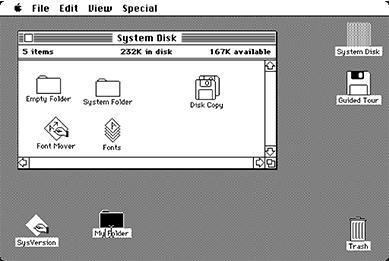 Apple's 1984 Macintosh interface